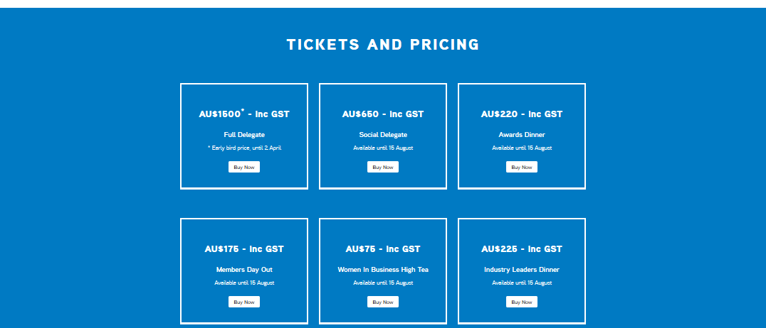 event pricing